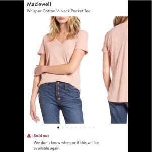 Madewell Whisper Cotton V-neck Pocket Tee